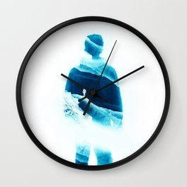 Love Isolation in Teal Wall Clock