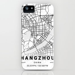 Hangzhou Light City Map iPhone Case