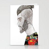 zayn malik Stationery Cards featuring Zayn Malik by LizzMartinez