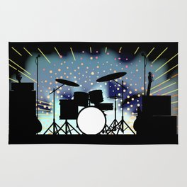 Bright Rock Band Stage Rug