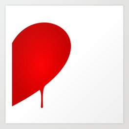 Half Heart Man Art Print