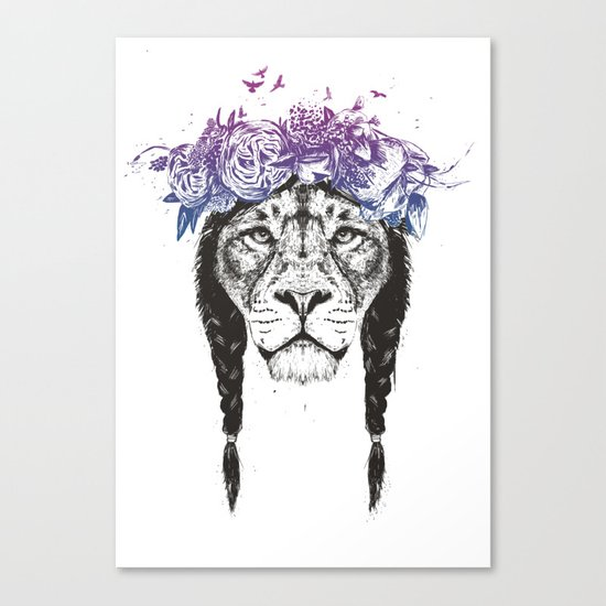 King of lions Canvas Print