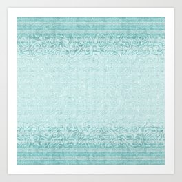 Swirling Soft Green Striped Imitation Terry Cloth Art Print