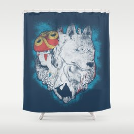 The princess and the wolf Shower Curtain