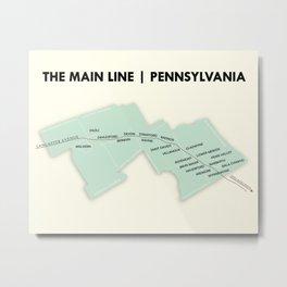 The Main Line, Pennsylvania Metal Print