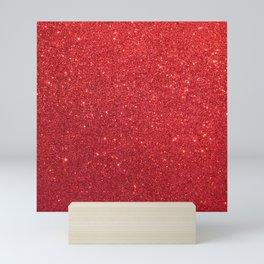 Ruby Red July Leo Birthstone Shimmering Glitter Mini Art Print
