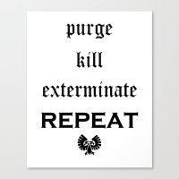 warhammer Canvas Prints featuring Purge-kill-exterminate black, Warhammer 40K by ZsaMo Design