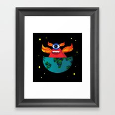 Master of the universe  Framed Art Print