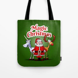 Magic Christmas with a unicorn Tote Bag