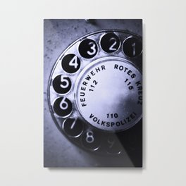 telefon Metal Print