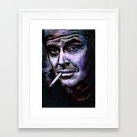 jack nicholson Framed Art Prints featuring Jack Nicholson by andy551