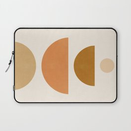 Abstraction_Geometric_Shape_Moon_Sun_Minimalism_001D Laptop Sleeve