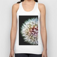 fractal Tank Tops featuring Fractal dandelion by Mark Nelson