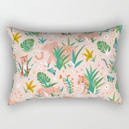 Endangered Wilderness - Blush Pink Rectangular Pillow