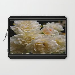 white roses and a light pink bud  Laptop Sleeve