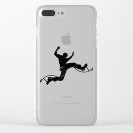 Stilts jump stilts jumping bouncing gift Clear iPhone Case