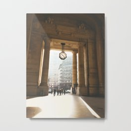 Vintage Milan Train Station Clock Metal Print