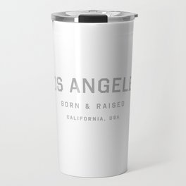 Los Angeles - CA, USA (White Arc) Travel Mug