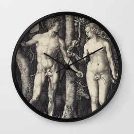 Albrecht Dürer - Adam and Eve (1504) Wall Clock