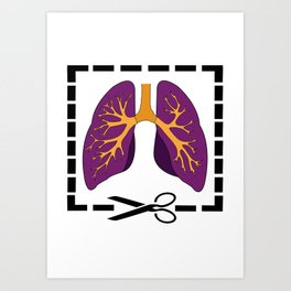 Cut My Lung Art Print