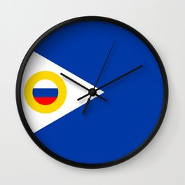 chukotka flag Wall Clock