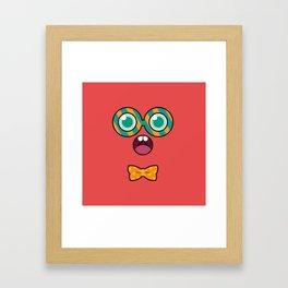 Monsticky Red Framed Art Print