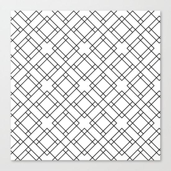 Simply Mod Diamond Black and White Canvas Print