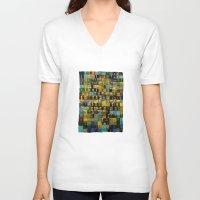 turquoise V-neck T-shirts featuring Turquoise by Pani Grafik