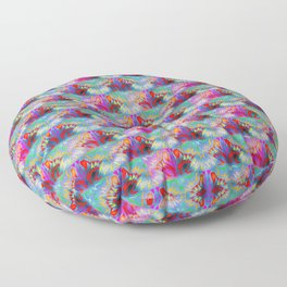 Ships in the Opal Sea Floor Pillow