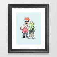 Beaker & Bunsen In Las Vegas Framed Art Print