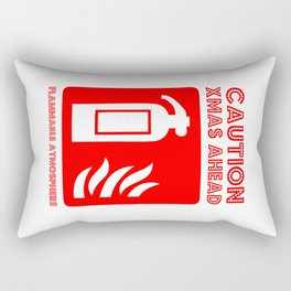 caution xmas ahead! Rectangular Pillow