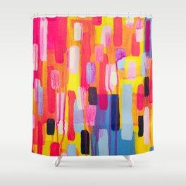 Neon Cities Shower Curtain