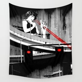 Stop the Freeway Overpass Scales Madness! Wall Tapestry