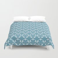 swallow Duvet Covers featuring Swallow Stars by Color The Tree
