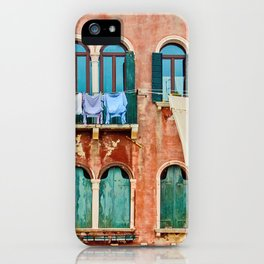 Dirty Laundry in Venice iPhone Case