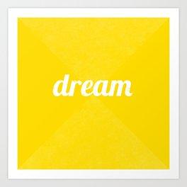 Dream - Yellow Art Print