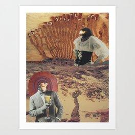 cranky desert birds Art Print