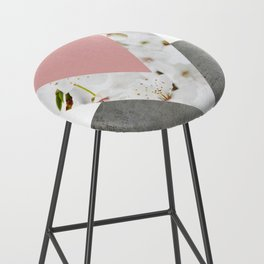 Blossoms Arrows Collage Bar Stool