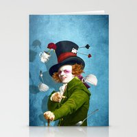 mad hatter Stationery Cards featuring Mad Hatter by Diogo Verissimo