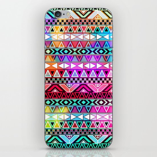Neon Aztec | Purple Pink Neon Bright Andes Abstract Pattern iPhone & iPod Skin