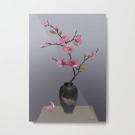 Flowering Pink Quince Metal Print