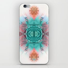 Sacred Geometry Feathered Pastel Mandala iPhone Skin