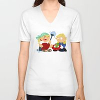 cinderella V-neck T-shirts featuring Cinderella by Alapapaju