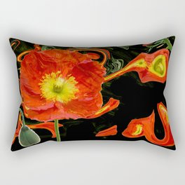 Poppies with abstract Rectangular Pillow
