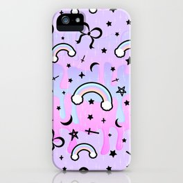 Cute Melting Pastel Chaos iPhone Case