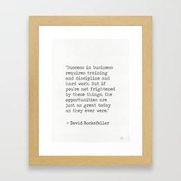 David Rockefeller quote Framed Art Print