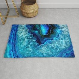 Turquoise Blue Teal Quartz Crystal Rug