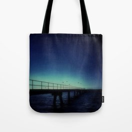 Island Jetty and Birds  Tote Bag