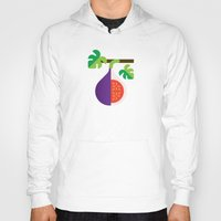 fig Hoodies featuring Fruit: Fig by Christopher Dina