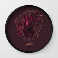 the perks of being a wallflower Wall Clocks featuring The Perks of Being a Wallflower by Hector Mansilla